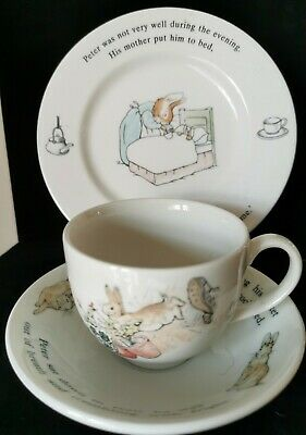 Wedgwood Peter Rabbit Trio Set Perfect Condition • 4.99£
