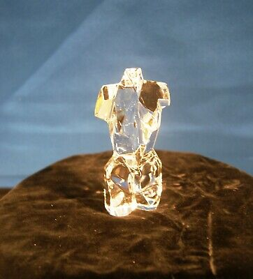 Daum Crystal  Athena  Art Glass Paperweight - Female Torso • 70£
