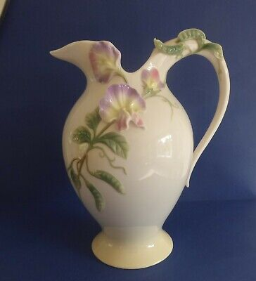 FRANZ PORCELAIN LARGE JUG/PITCHER With SWEET PEAS  FZ00411 • 35£