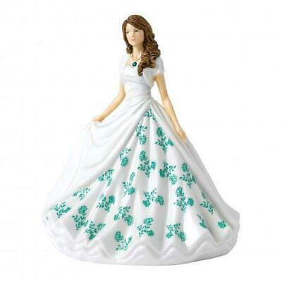 Royal Doulton - Birthstone Petite Lady Figure May, Emerald • 55£