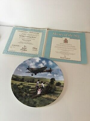 Royal Doulton Spitfire Coming Home Heroes Of The Sky Limited Edition Plate • 8.99£