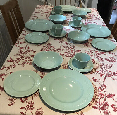 Woods Ware Beryl Green Dinner Set For 4 (20 Pieces) • 40£