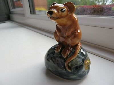 *rare* Elite Pottery Harvest Mouse On A Rock Figure 4.25 Inch Stoke On Trent  • 20£