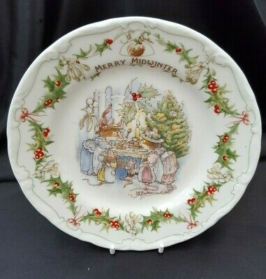 Royal Doulton BRAMBLY HEDGE MERRY MIDWINTER 16CMS PLATE, 1ST QUALITY • 49.99£