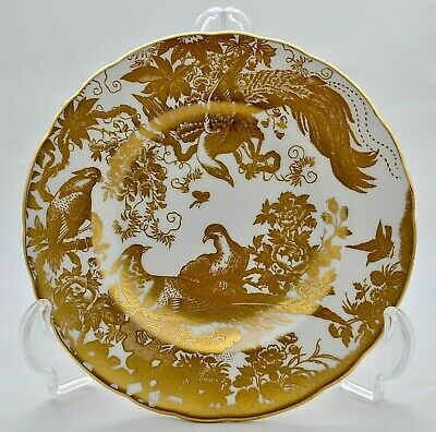 Royal Crown Derby *gold Aves* A.1235 Scalloped 6.25  Side Plate - '1st' • 39.95£