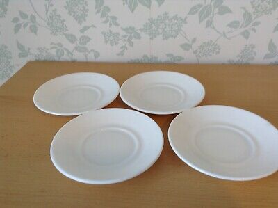 Arcopal, France  4 Milk Glass Replacement Saucers  • 1.99£