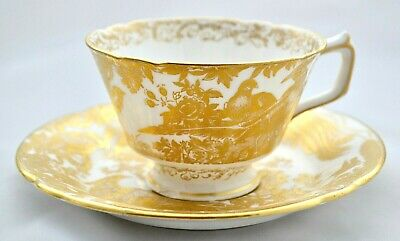 Royal Crown Derby *gold Aves* A.1235 Tea Cup & Saucer '1st' Quality • 35.95£