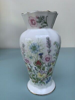 Aynsley Wild Tudor Fine Bone China Vase 16cm • 3£