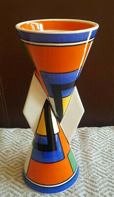 Clarice Cliff Vase Mondrian Yo Yo Yoyo Limited Edition Rare Only 3999 Made Uk • 89£