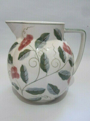 Large Ceramic Laura Ashley Hand Painted Cream Jug / Water Pitcher Pink Floral • 12.50£
