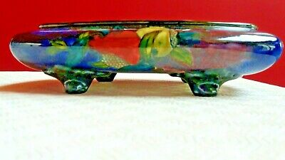 1930's HANCOCKS RUBENS WARE POMEGRANATE RECTANGULAR  BOWL WITH LEGS, RARE SHAPE • 45£