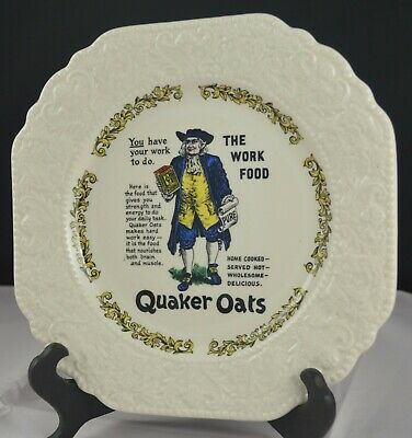 Lord Nelson Pottery Advertising Plate Quaker Oats • 6£