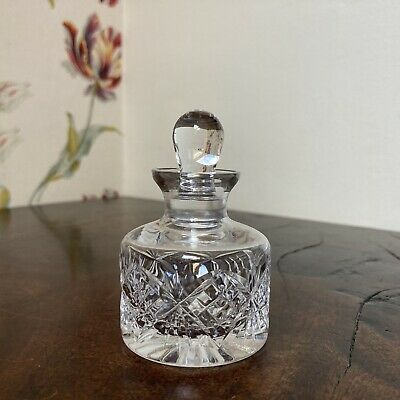Small Stuart Cut Crystal Perfume Ink Bottle • 4.95£