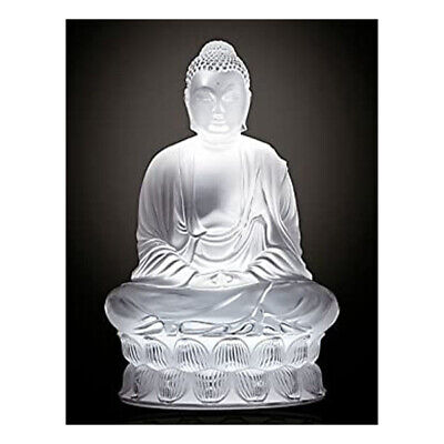 GENUINE LALIQUE Buddha Clear Crystal Buddhist Sculpture (10140200) • 790£