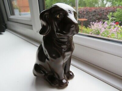 *rare* Burslem Pottery Chocolate Labrador Dog Figure 6.5 Inch *stoke On Trent* • 28£