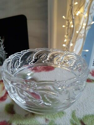 TIFFANY & CO DOLPHIN Classic Cut Crystal Bowl 5  - Signed Excellent Condition • 24.50£