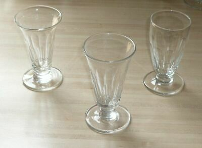 Old Antique / Vintage Hand Blown Jelly Glasses Cut Glass X 3 • 15£