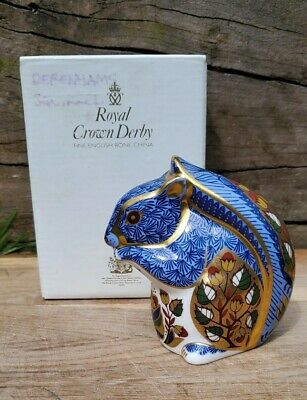 Royal Crown Derby 'DEBENHAMS SQUIRREL' Paperweight. Limited Edition Exclusive. • 99£