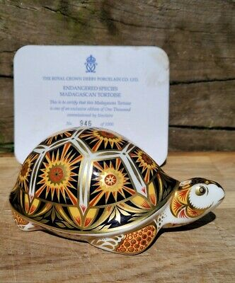 Royal Crown Derby 'MADAGASCAN TORTOISE' Paperweight. Endangered Species Series. • 115£