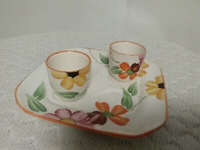 Vintage Grays Pottery Eggcups/stand • 24.99£