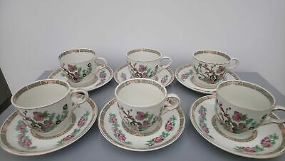 6 X John Maddock INDIAN TREE Cup & Saucers • 27.99£