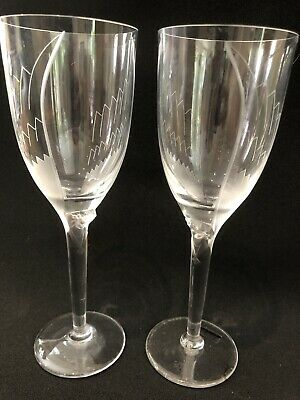 Pair Of Lalique Paris Signed Angel Wing Champagne Glasses Bn • 95£
