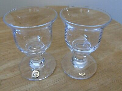 Pair Of Small Vintage Dartington Goblets ~ Sherry Aperitif Glasses ~ 3  Tall • 4.99£