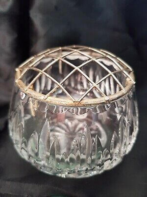 """Small Cut Glass Rose Bowl Apprx 3""""  (or) • 3£"""
