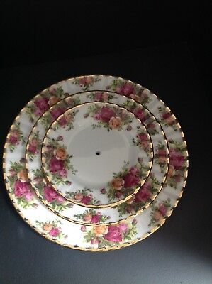 Maybe A Royal Albert Old Country Roses 3-Tier Cake Stand, I'll Drill Your Plates • 11£