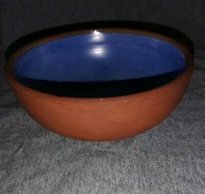 C.H Brannam Terracotta And Blue Glaze Bowl • 12.99£