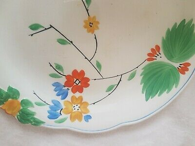 Vintage Art Deco George Jones & Sons Crescent Ivory Hand Painted Plate Floral... • 39.99£