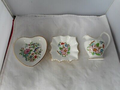 Three Pieces Of Aynsley Pembroke  Porcelain • 3.20£