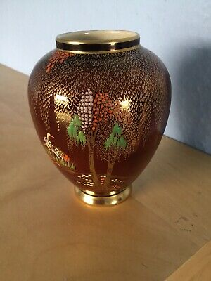 Carlton Ware Rouge Royale Vase/jar In Stork Pattern • 7.99£