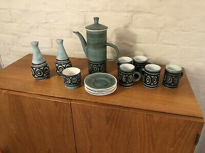 Rye Pottery Vintage Cinq Ports Monastery Green Coffee Set. • 15£