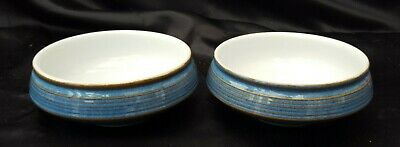 Denby Chatsworth  Blue  Bowls Nibbles Snack Dishes  X 2 • 7.99£