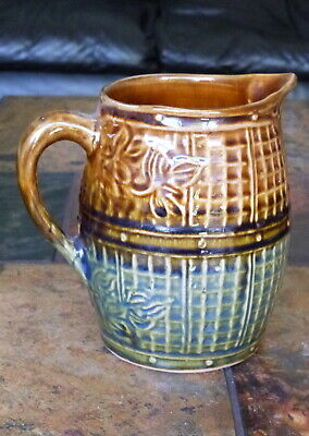 Old Pottery Green / Brown Jug • 5.99£
