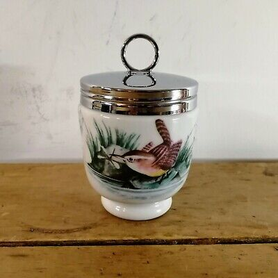 Royal Worcester Egg Coddler Birds Pattern Wren And 2 Finches 4  King Size Finch • 3.19£