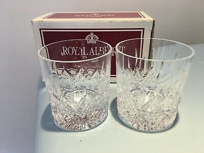 Pair Of Boxed Royal Albert Crystal Countess Rummer Heavy Whiskey Glasses  • 19.95£