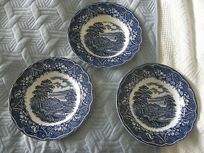 3 Barratts, Old Castle Design, Soup Bowls, Made In England • 14.95£
