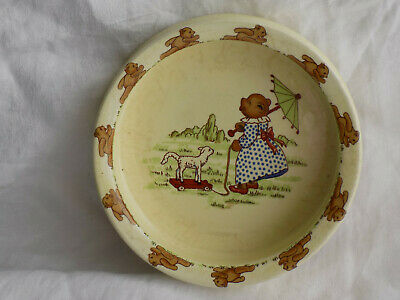 VINTAGE SYLVAC CHILD/BABY's FEEDING BOWL- NURSERY WARE - TEDDY - LAMB • 4.99£