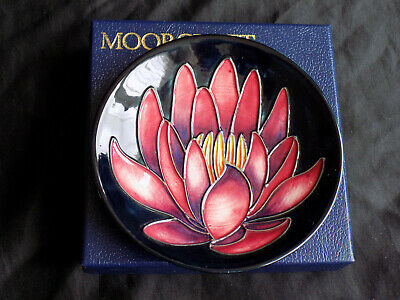 Moorcroft Collectors Club-may Lily Trinket Dish Boxed - Signed Emma Bossons 2001 • 42£