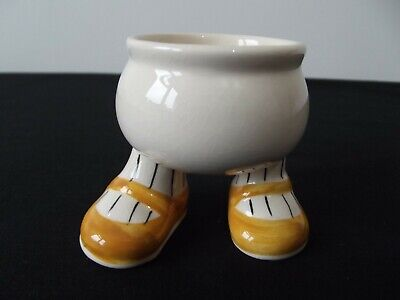 CARLTON WARE -  Walking Ware Egg Cup - Orange Shoes - Excellent Condition • 10£