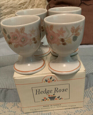 Boots - Hedge Rose - 4 Egg Cups - New In Box • 9.99£