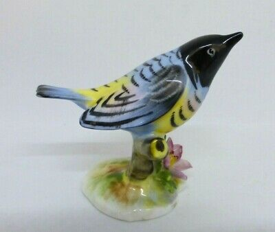 Royal Adderley Floral -  Hand Painted Figurine Of A Warbler • 0.99£