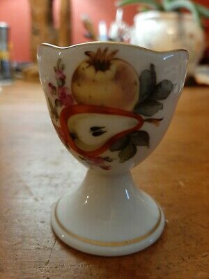 Antique Herend Porcelain China Pear And Yellow Plum Egg Cup Ex Condition  • 35£