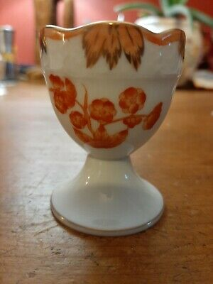 Antique Herend Porcelain China Rust Coloured Butterfly Egg Cup Ex Condition  • 30£