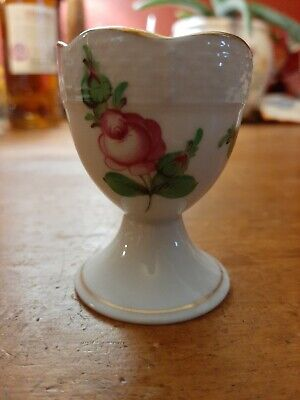 Antique Herend Porcelain China Pink Roses Egg Cup Ex Condition  • 20£
