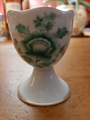 Antique Herend Porcelain China Green Flowers Egg Cup Ex Condition  • 20£