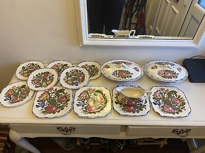"""Rare Lot Of Myott And Sons """"Peasantry"""" Dinner Items • 60£"""
