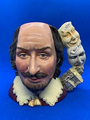 Royal Doulton Large Character Jug! William Shakespeare! D7136! Mint! • 95£